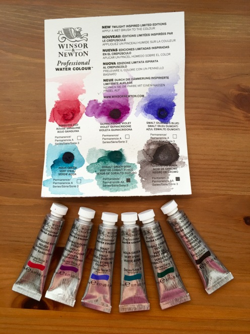 Winsor & Newton limited edition twilight set dot card and tubes