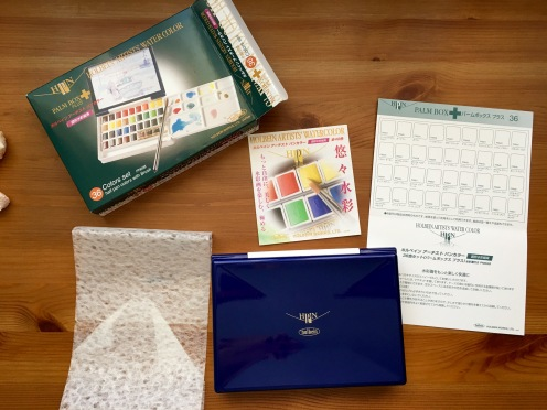 Holbein Palm Box Plus packaging