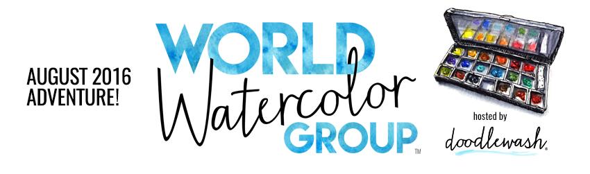 #WorldWatercolorGroup August 2016 Adventure
