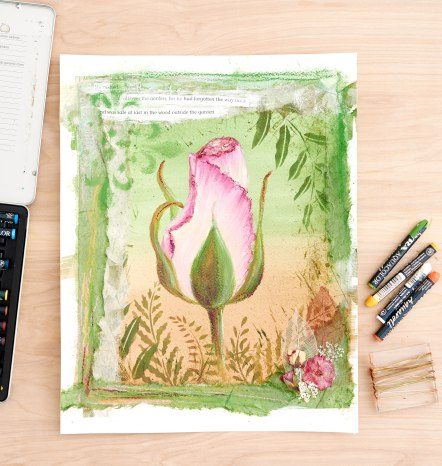 #Doodlewash - Watercolor by Lindsay Weirich of rose #WorldWatercolorGroup Photo Credit Craftsy