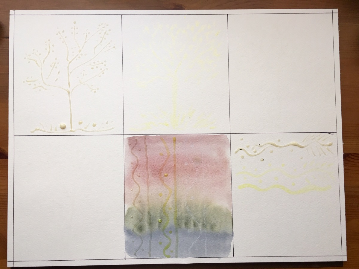 Schmincke, Winsor & Newton, China Marker, Wax Resist masking fluid demo