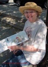 Doodlewash - Image of Kate Buike sketching