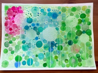 Dots watercolor painting by Jessica Seacrest