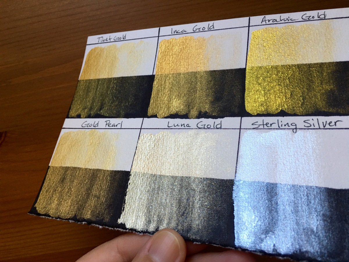 Finetec mica watercolors swatch