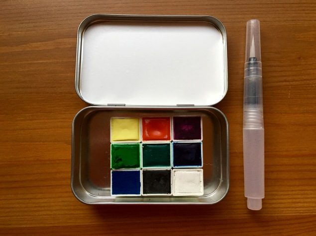 Pfeiffer Art Supply un wrapped half pans and tins and waterbrush
