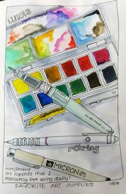 #Doodlewash - Watercolor by Nadene Esterhuizen of Art Supplies #WorldWatercolorGroup