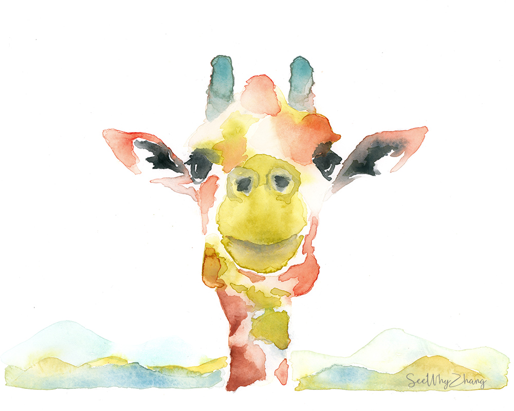 #Doodlewash - Giraffe - #WorldWatercolorGroup