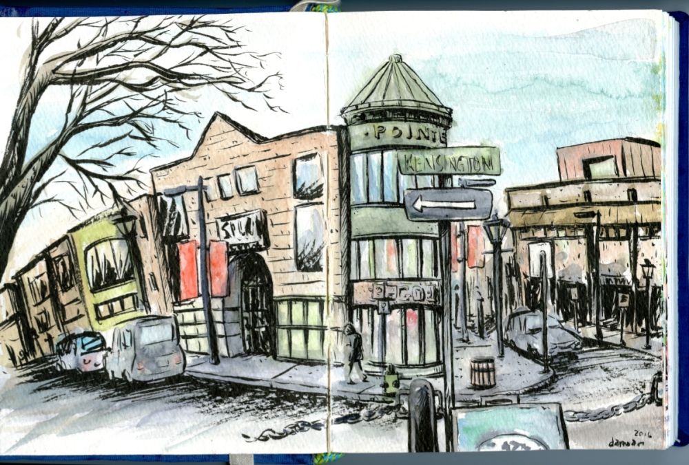 #Doodlewash - Watercolor comic by Damian Willcox, dorkboy comics - Kensington - #WorldWatercolorGroup
