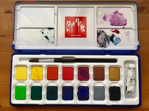 Caran d'Ache gouache studio 15 pan palette