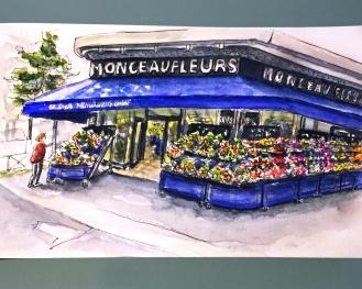 Day 2 #WorldWatercolorGroup Fleuristes à Paris flower shops
