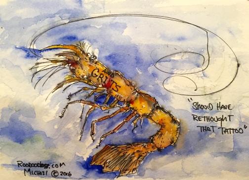 #WorldWatercolorGroup - Watercolor sketch by Michael Haun - Roodoodles - #doodlewash