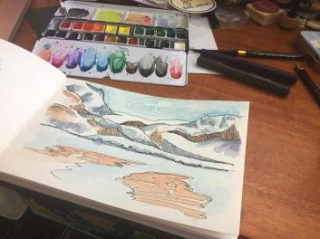 "#WorldWatercolorGroup - Watercolour by Gabrielle ""Brie"" Hatton - #doodlewash"