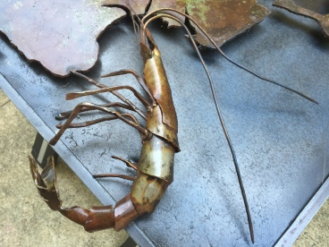 Steel Sculpture by Michael Haun - Shrimp