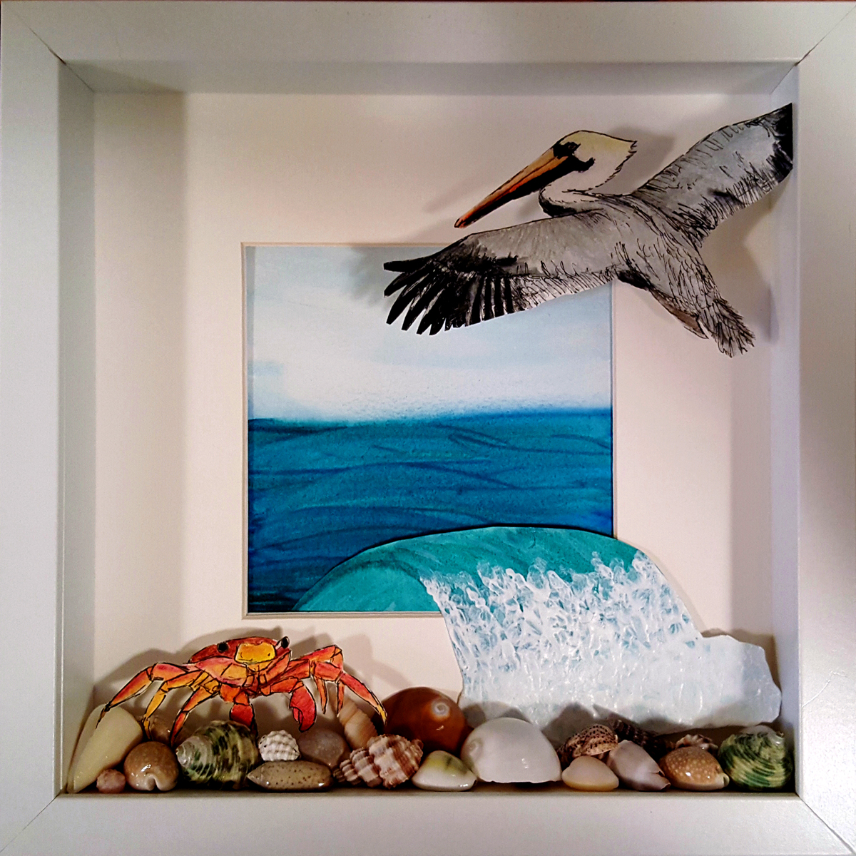 #WorldWatercolorGroup - Watercolor - Pelican Dreams by Adriana Vidal - #doodlewash