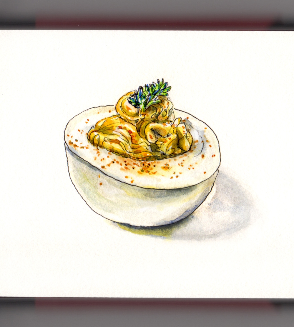 Day 2 - #WorldWatercolorGroup National Deviled Egg Day