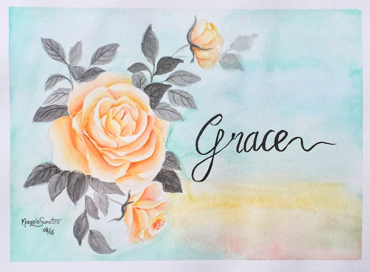#WorldWatercolorGroup - Watercolor by Maggie Sumitro - Grace - #doodlewash