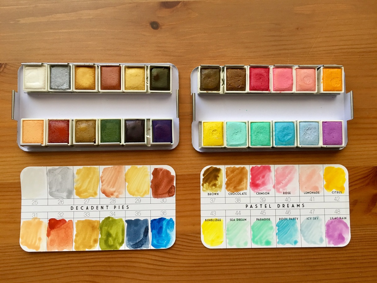 Doodlewash Review Prima Watercolor Confections Sets