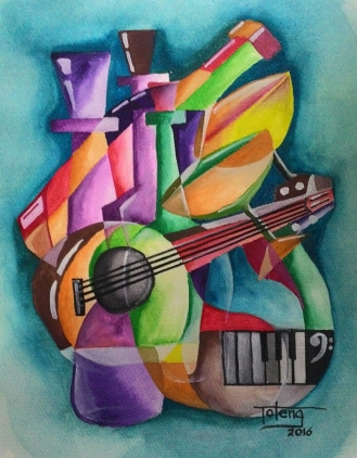 #WorldWatercolorGroup - Watercolor abstract painting by Lino Reynaldo De Leon - #doodlewash