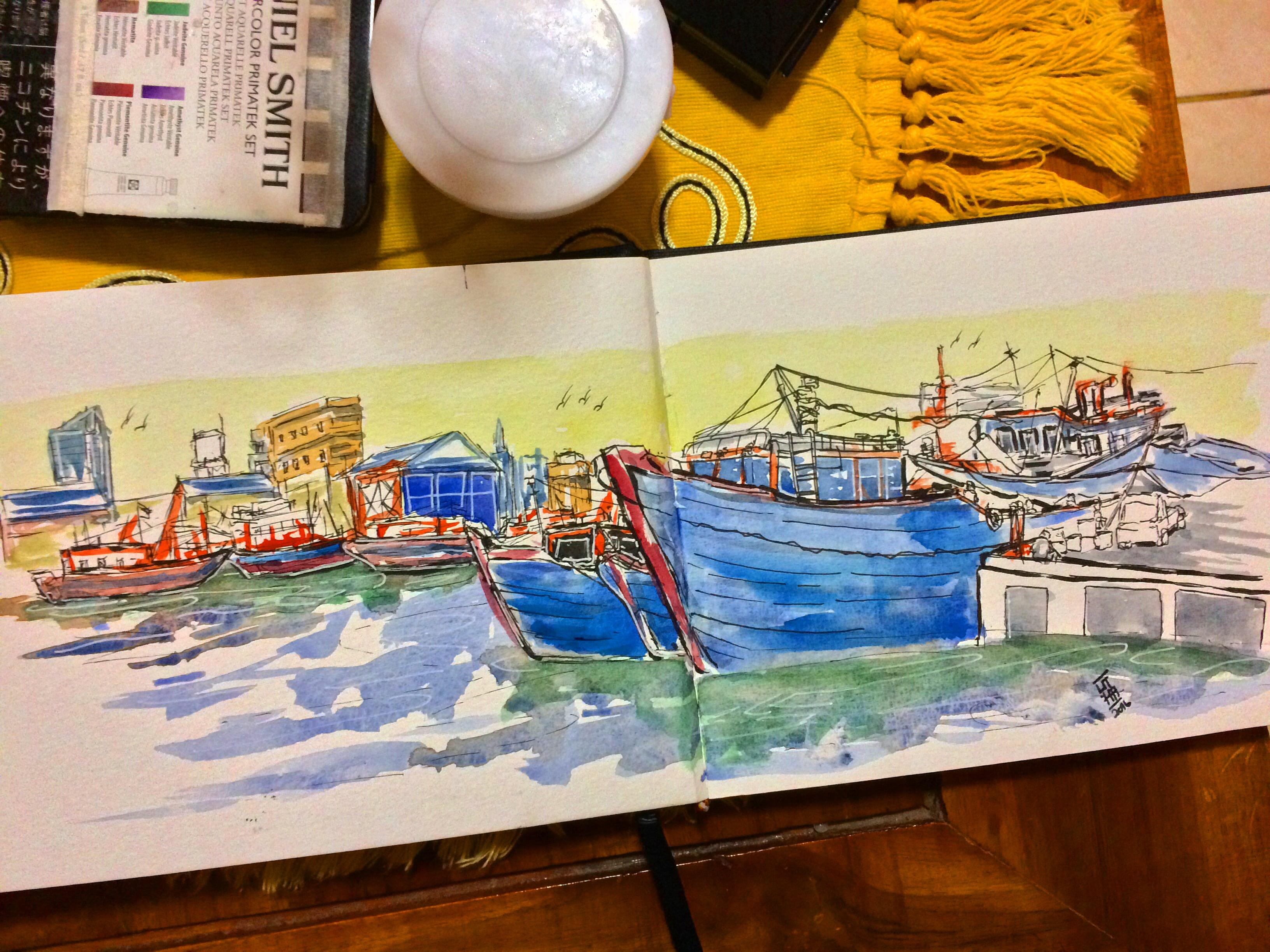 #WorldWatercolorGroup - Watercolor painting by Utha (Anak Agung Wira Suputra) - #doodlewash