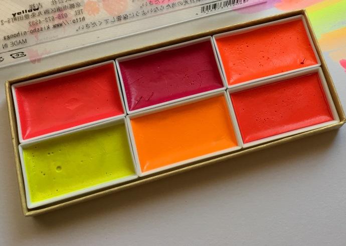 Kissho Gansai Lumi Accent Colors florescent watercolors