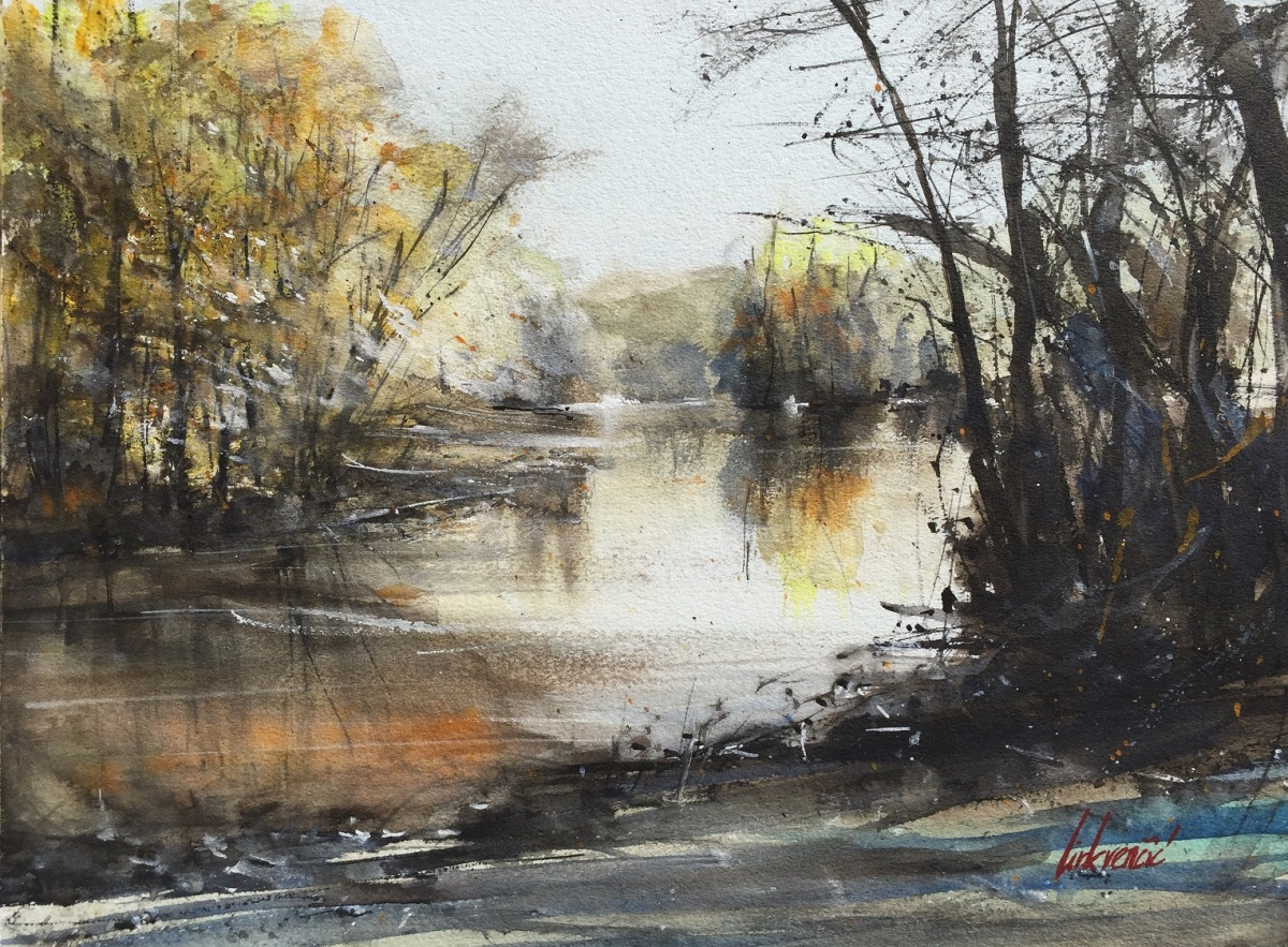 #WorldWatercolorGroup - Watercolor painting by Tihomir Cirkvencic - #doodlewash