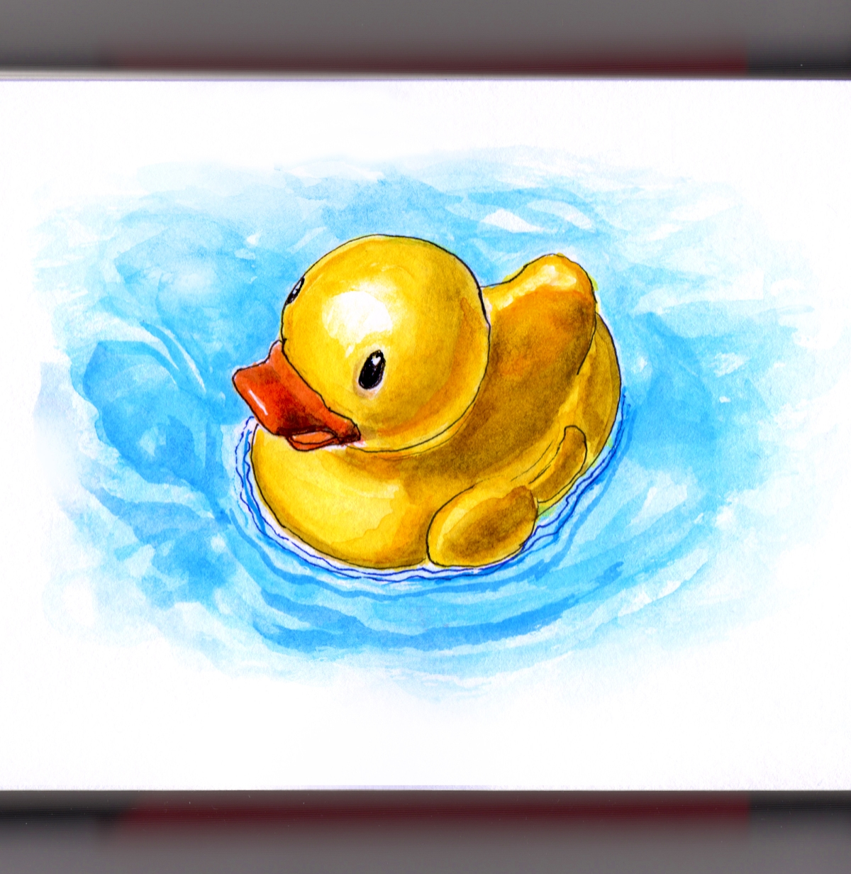 First to review yellow rubber duck click here to cancel reply - Day 12 Worldwatercolorgroup Rubber Duckie Rubber Ducky Duck In Blue Water Ernie
