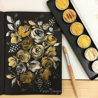 #WorldWatercolorGroup - painting by Shiela Sison - #doodlewash