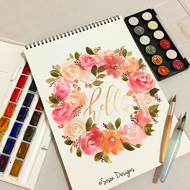 #WorldWatercolorGroup - watercolor painting and hand lettering by Shiela Sison - #doodlewash
