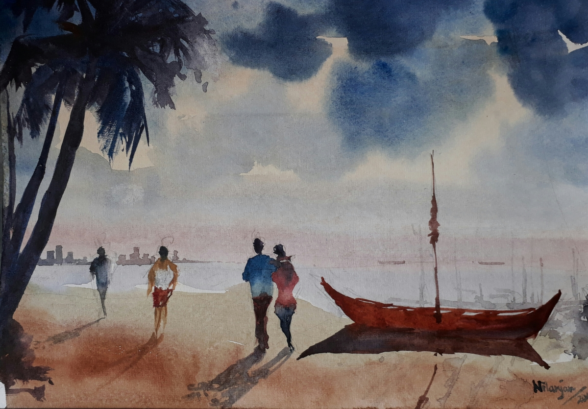 #WorldWatercolorGroup - Watercolor painting by Nilanjan Guha - #doodlewash