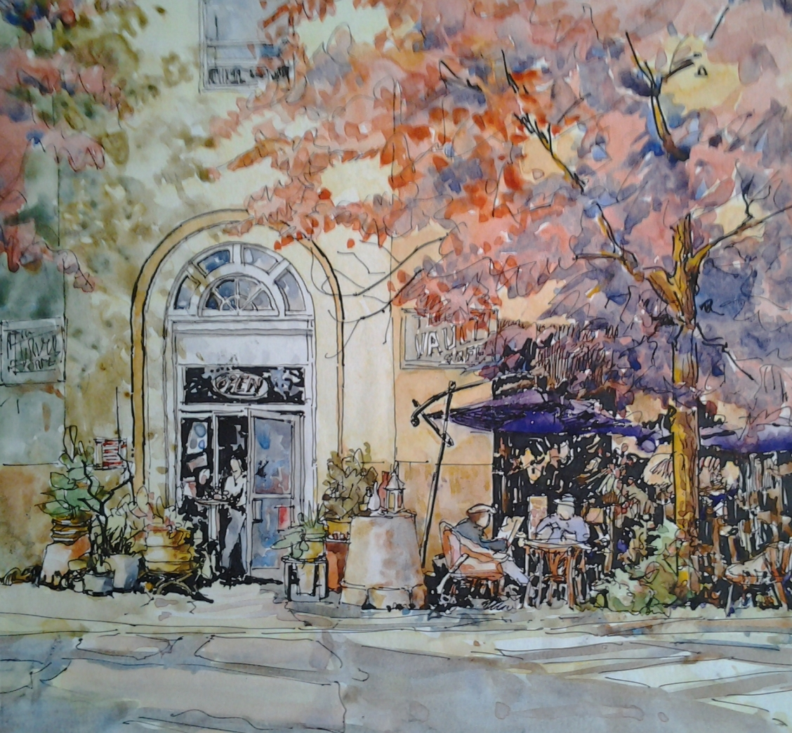 #WorldWatercolorGroup - Watercolor by John Hofman - #doodlewash