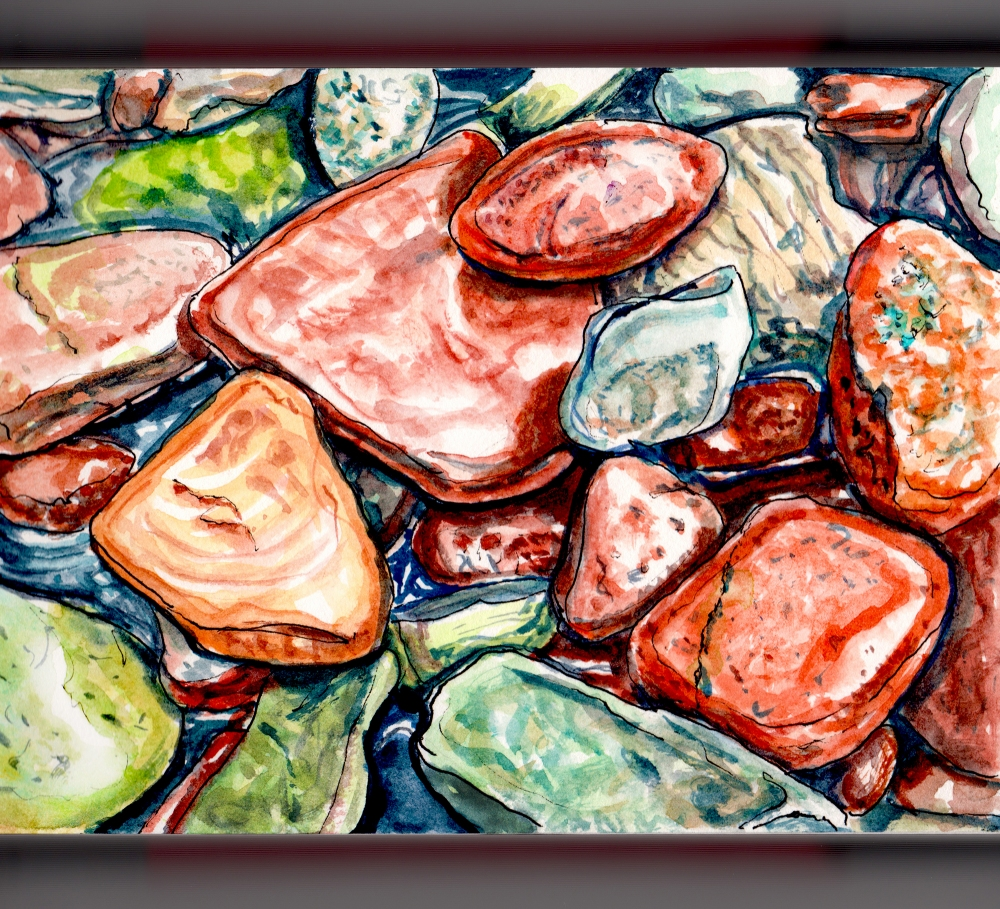 day-16-rock-on-colorful-rocks-in-a-stream