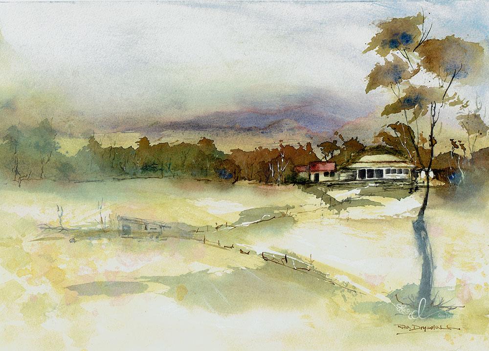 #WorldWatercolorGroup - Watercolor Painting By Rita Drysdall - Ulmurrax - #doodlewash