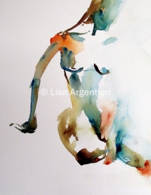 #WorldWatercolorGroup - Watercolor Painting by Lisa Argentieri - Nude - #doodlewash