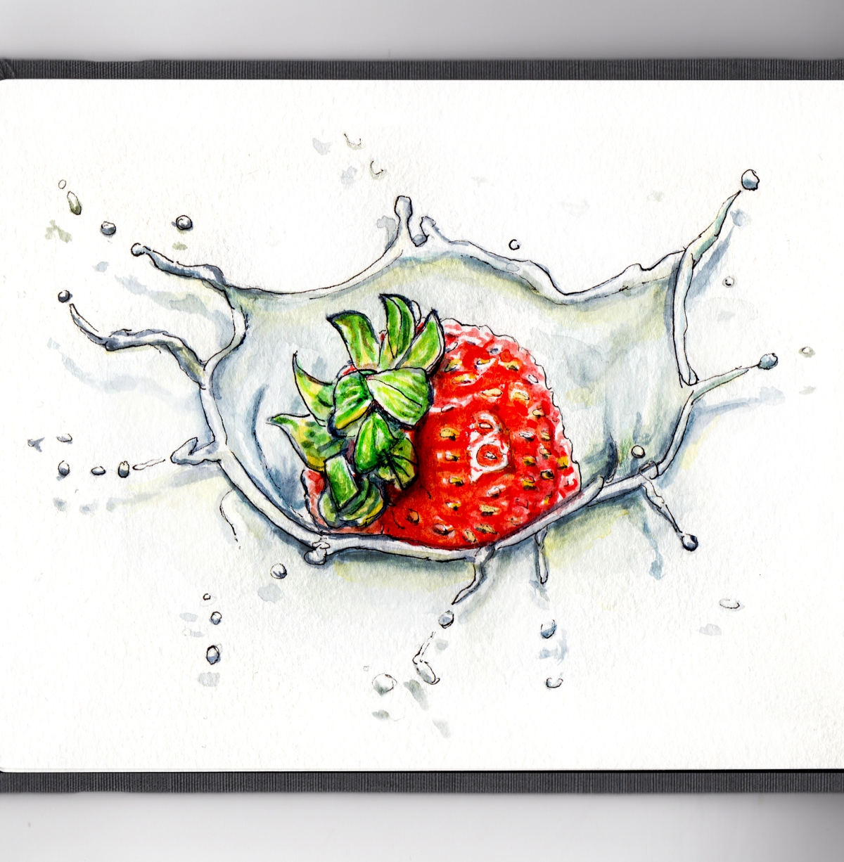 Day 15 - Strawberries and Cream Splash