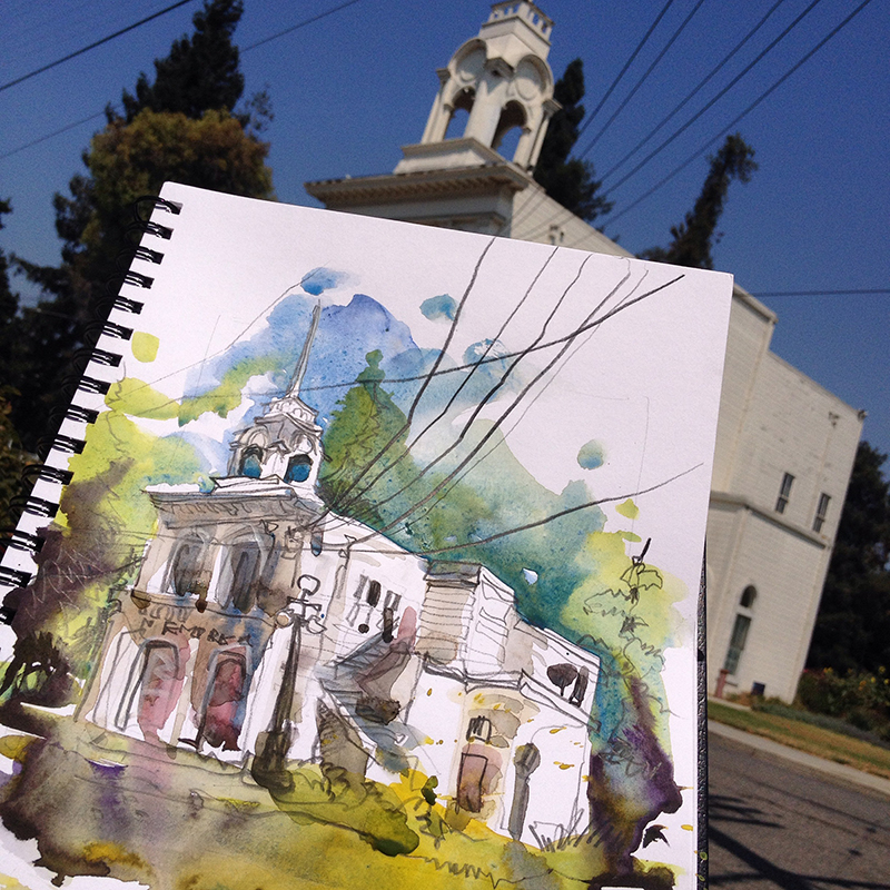 #WorldWatercolorGroup - Watercolor painting and urban sketching and Suhita Shirodkar - #doodlewash