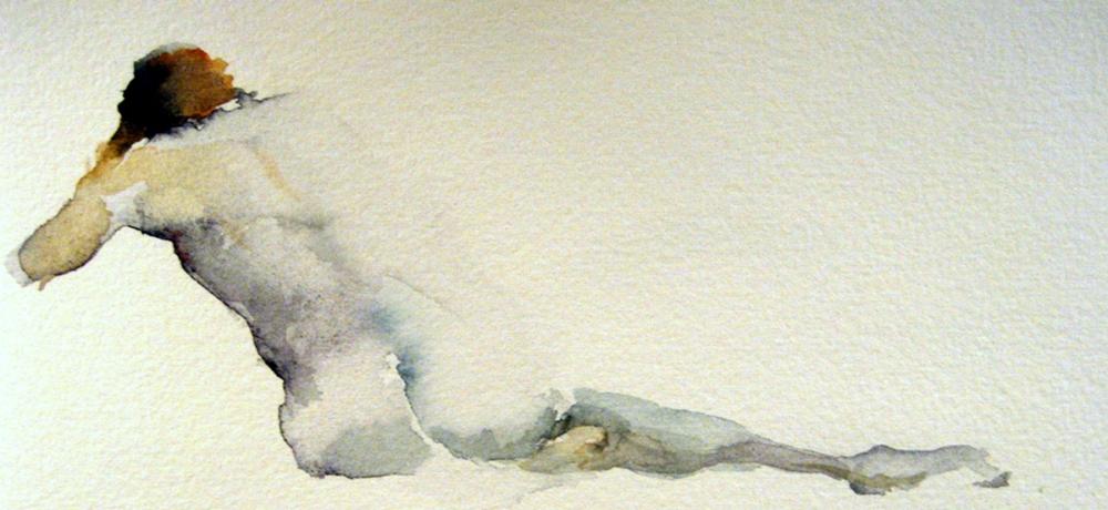 #WorldWatercolorGroup - Watercolor Painting by Lisa Argentieri - Nude - #doodlewash