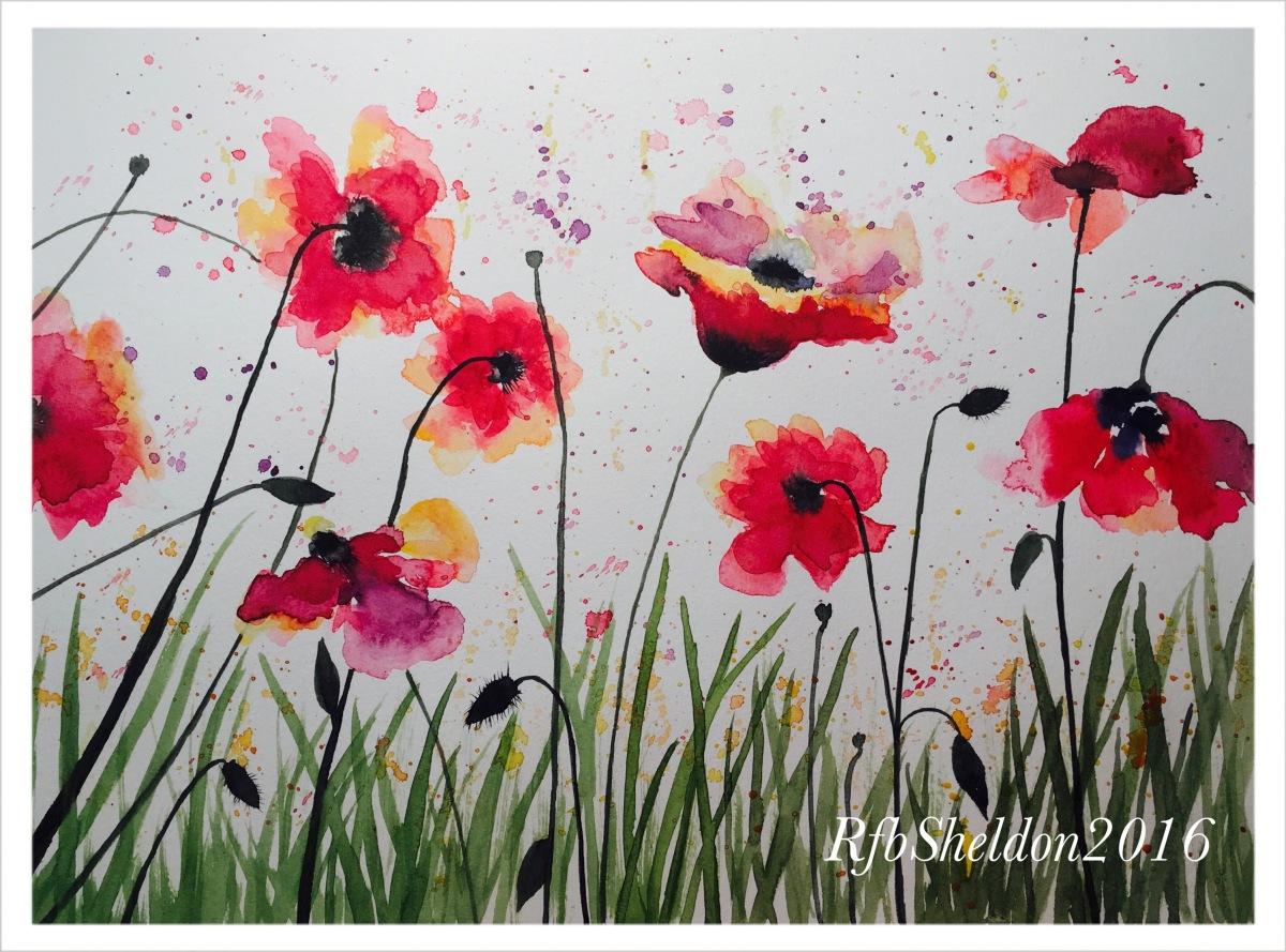 #WorldWatercolorGroup - Watercolor painting of flowers by Rocelee F. Benedicto-Sheldon - #doodlewash