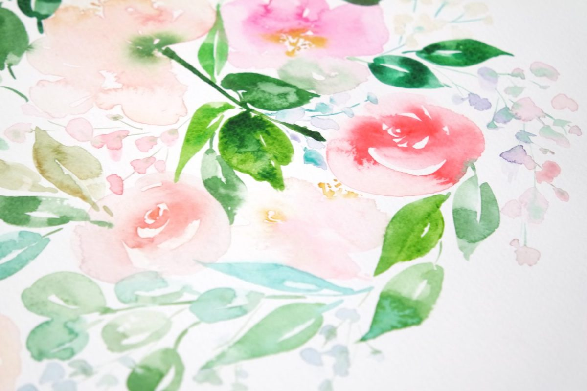 #WorldWatercolorGroup - Watercolor painting by Jieyan Ow - Flowers - #doodlewash