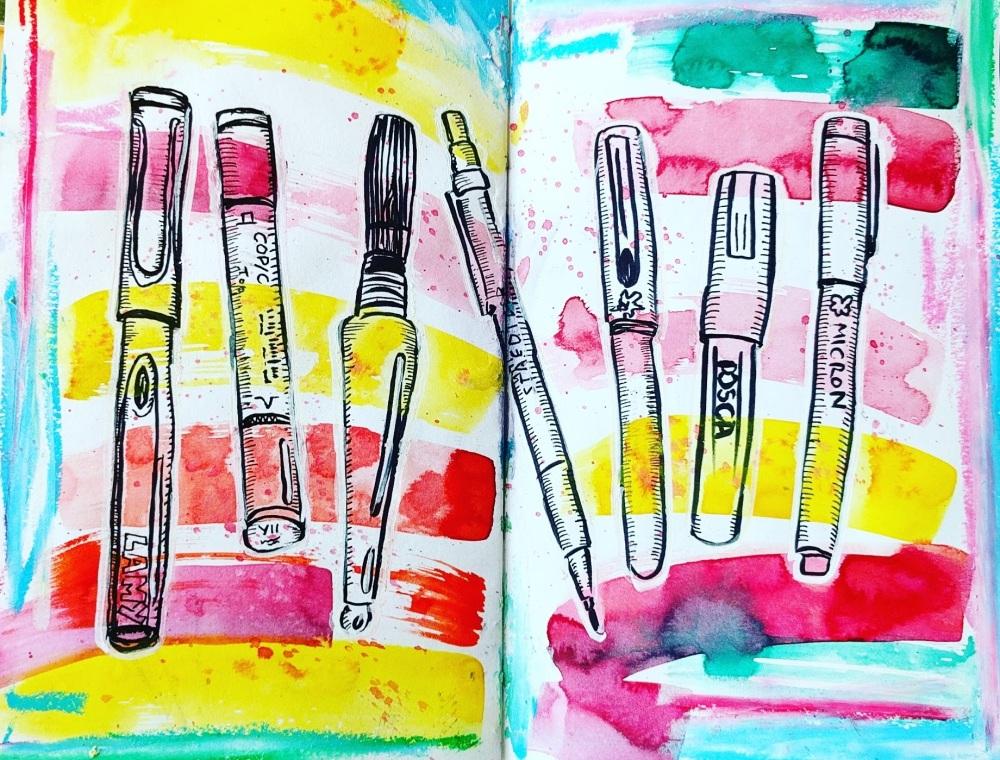 #WorldWatercolorGroup - Watercolor sketch by Volta Voloshin-Smith of Color Snack - Art Supplies - #doodlewash