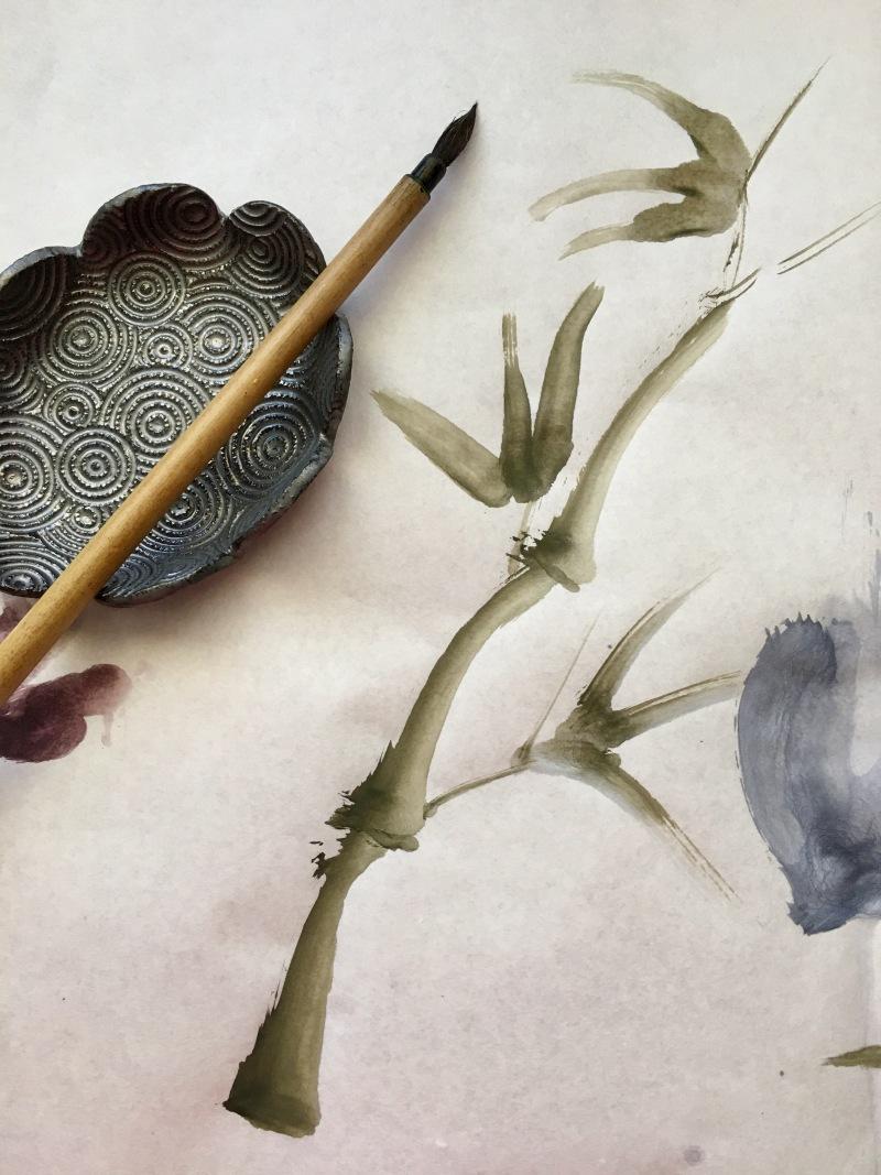 Boku-Undo E-Sumi Watercolor Paint 6 Colors Set watercolour box watercolor painting by jessica seacrest on shuen