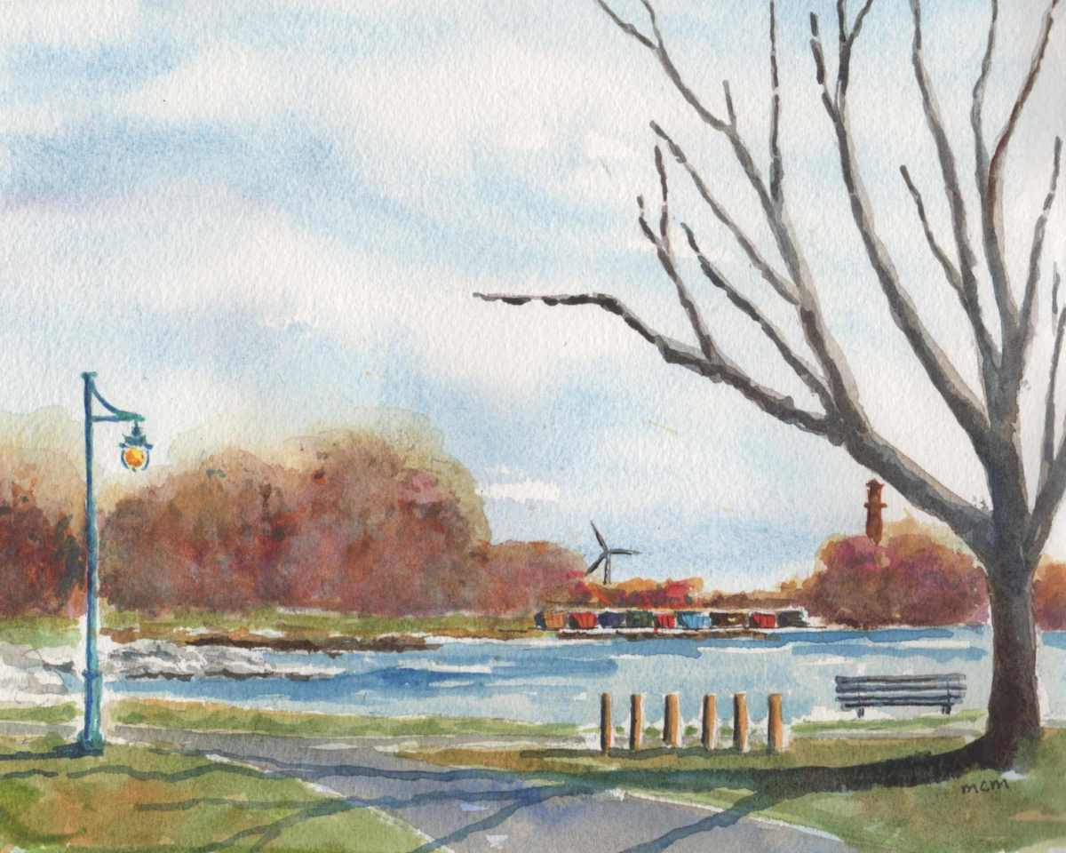 #WorldWatercolorGroup - Watercolor by Cristina Mazzoni - park - #doodlewash